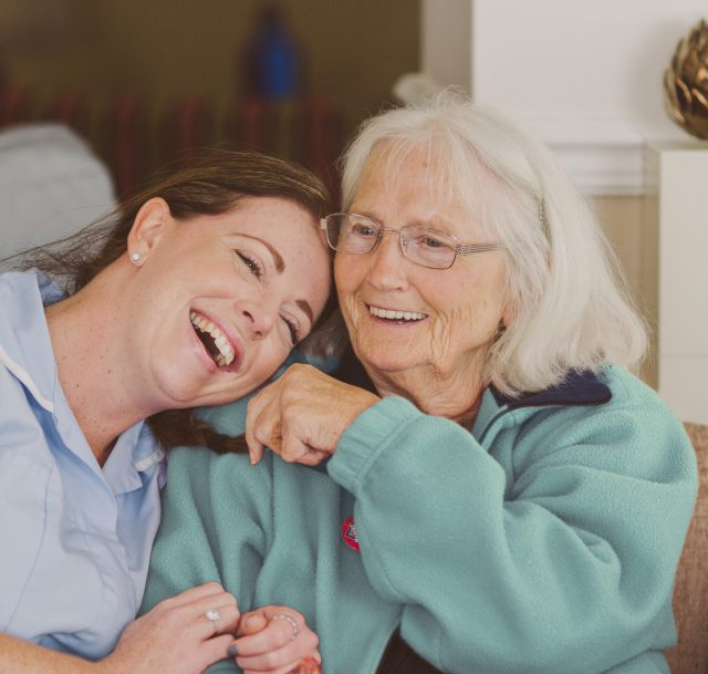 Carer and resident